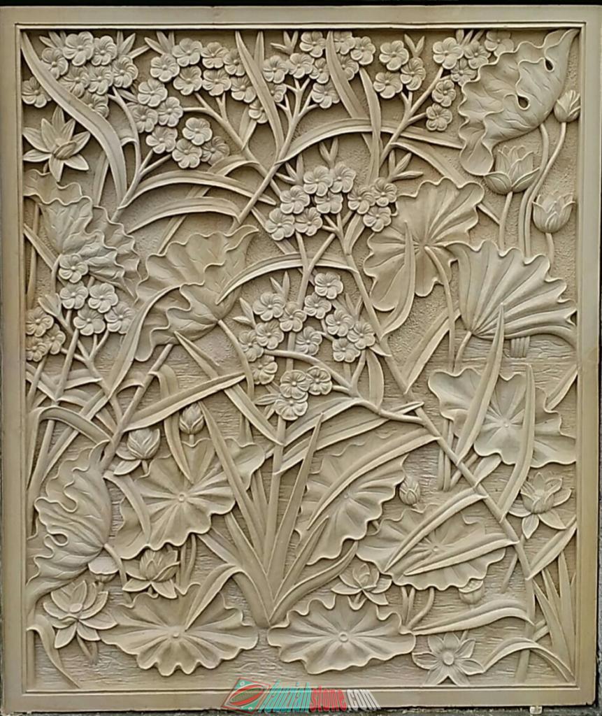 Relief batu paras putih